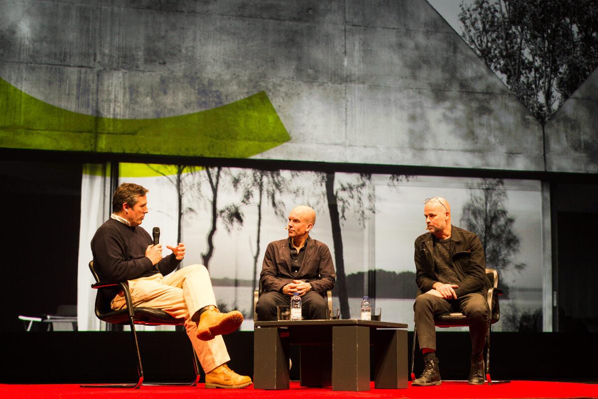 Luís Tavares Pereira modera o debate com Tham & Videgård